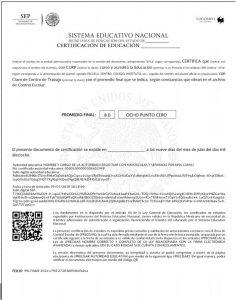 Certificado de estudios electrónico