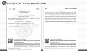 Certificado de terminación de estudios