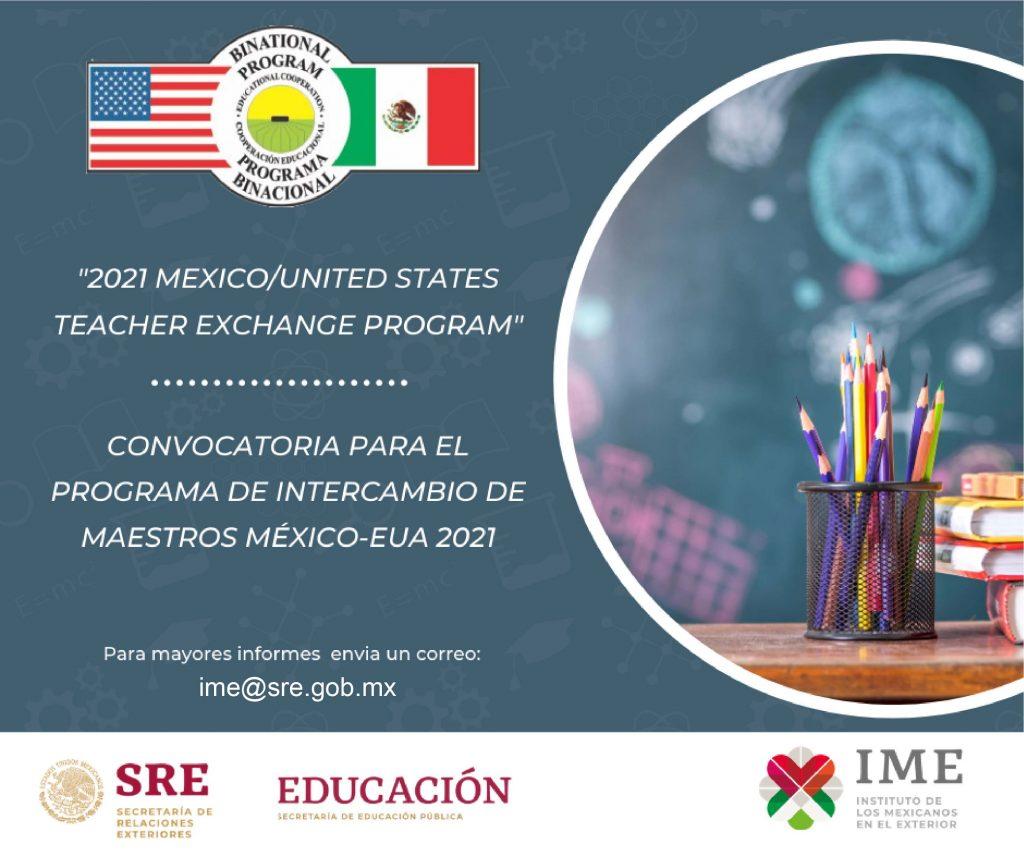 Intercambio maestros mexicanos a eeuu 2021