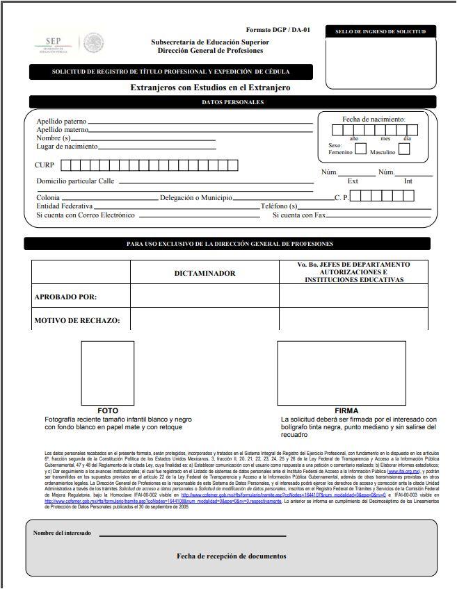 Registro pdf titulo profesional extranjeros I
